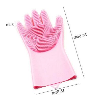 Kitchen Silicone Gloves Household Dusting Scrub