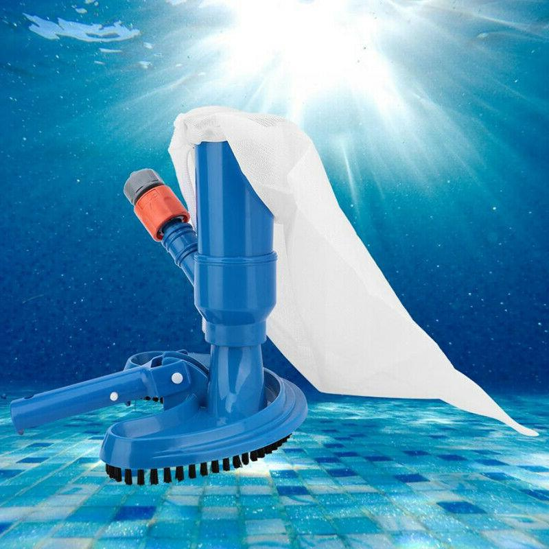New Swimming Pool & Spa Pond Vacuum Brush Cleaner Cleaning Kit