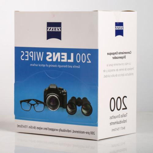 Zeiss Pre-Moistened Wipes 200 Glasses Cleaner