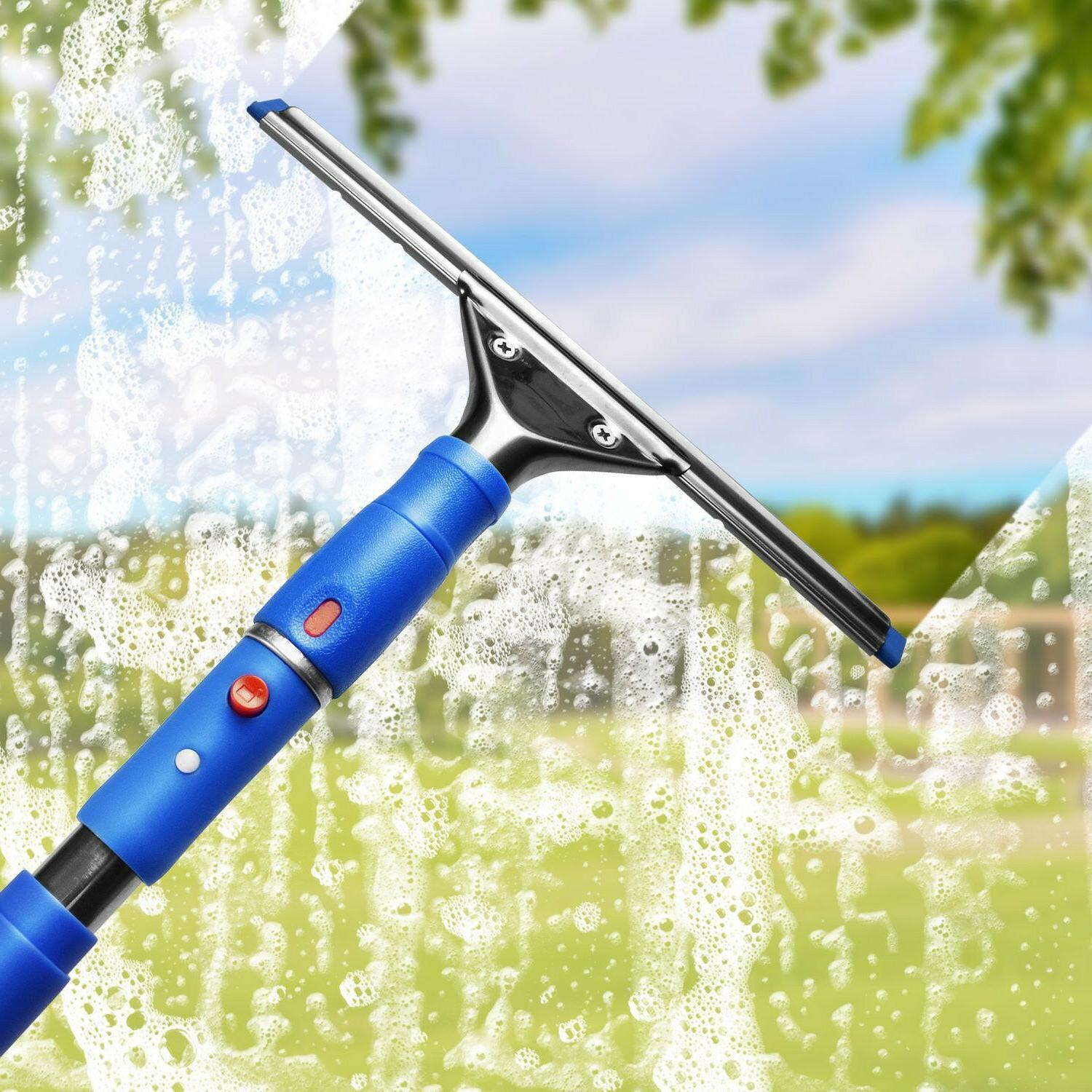 Professional Glass Washer Squeegee Pole