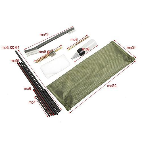 NEW Gun Cleaning Rifle Bore Cleaning Kit Brush .22cal .223 556 with Durable