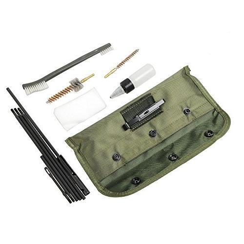 NEW Gun Kits Rifle Kit Shotgun Cleaner Brush Rod .22cal with Durable Pouch