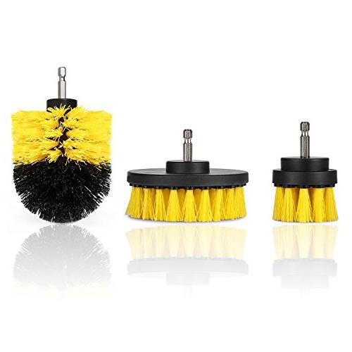 Drill - Cleaning Purpose Drill Brush Bathroom Grout, Tub, Shower, Corners, Kitchen, Automotive, Fits Most Drills