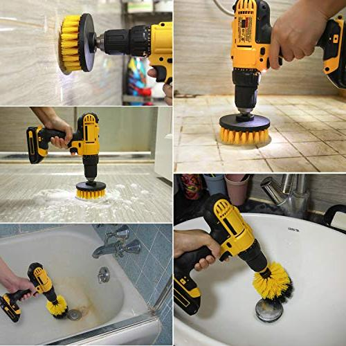 Drill - Power Scrubber Cleaning - Purpose Drill Brush Bathroom Grout, Tub, Shower, Kitchen, Automotive, Fits Drills