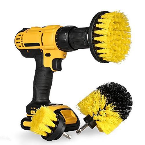 scrub brush drill attachment kit