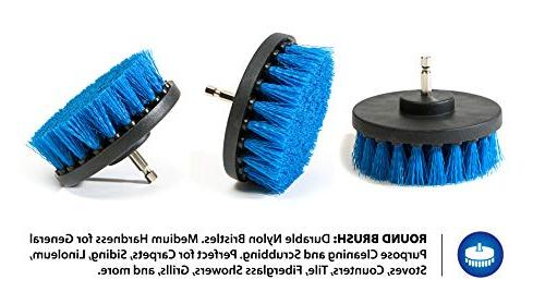 RevoClean Piece Brush Power Purpose for Grout, Kitchen,