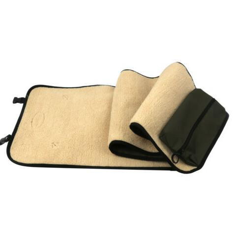 Tourbon Shotgun/Rifle Cleaning Pad Pocket Rollup Fleece
