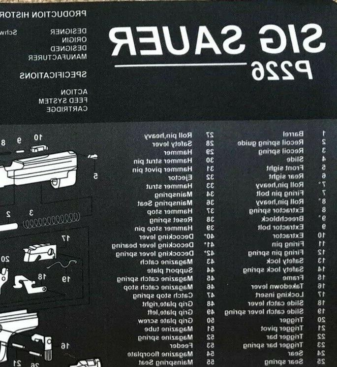 Sig Sauer P226 Cleaning Mat Handgun Cleaning Kit