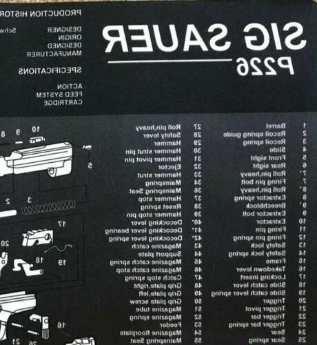 Sig P226 Gun Cleaning Mat 9mm Handgun Kit