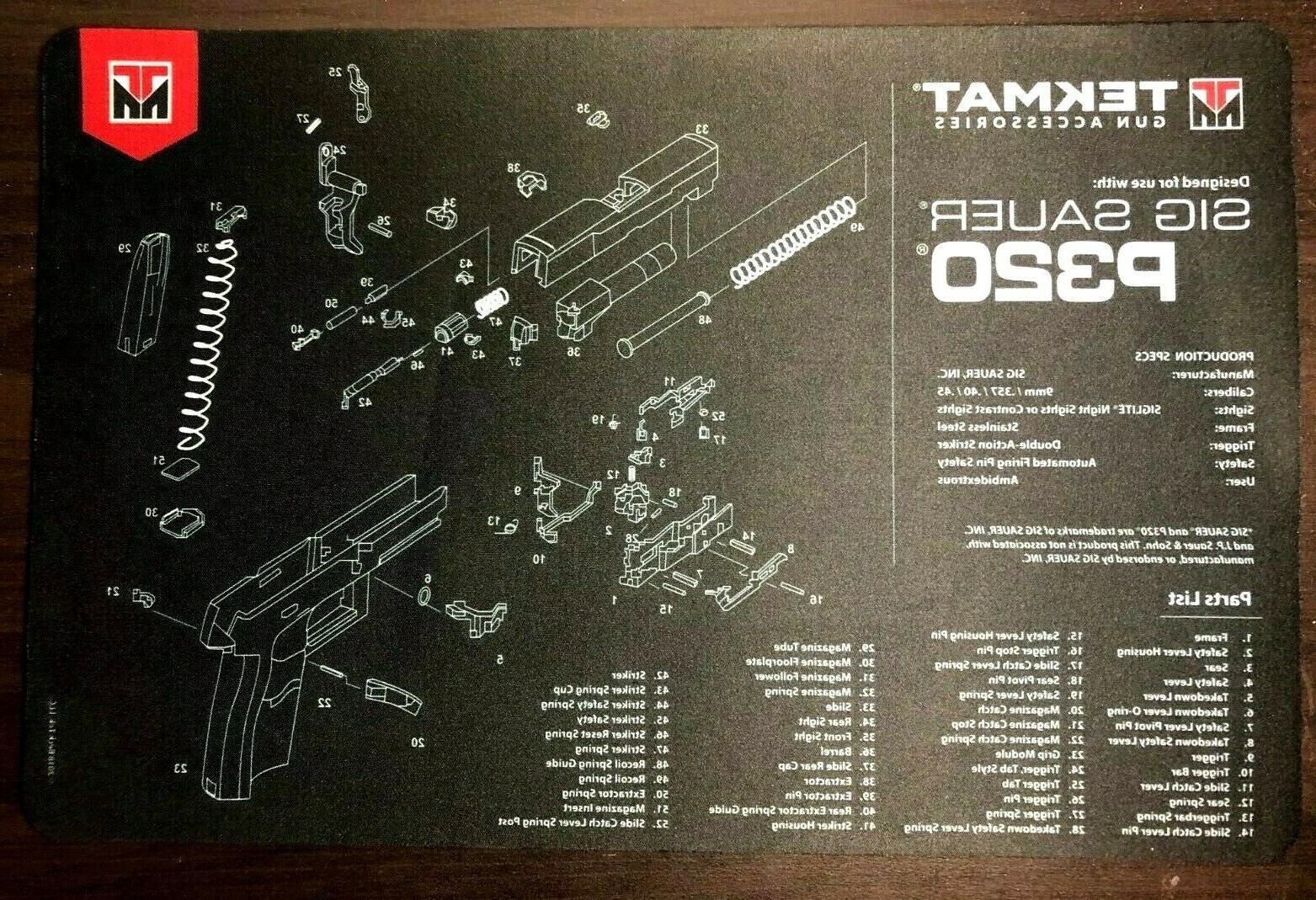Tekmat Sig Sauer P320 Gun Cleaning Mat  Thick