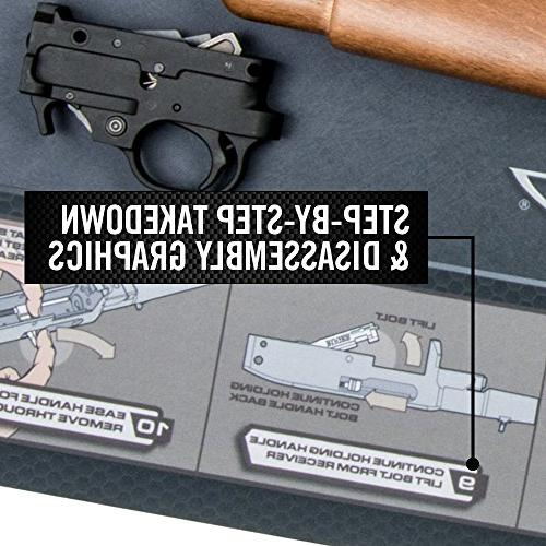 Real Avid 22 Smart Mat - Ruger Cleaning Mat Rifle 22 Graphics