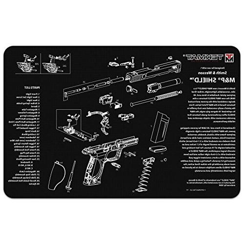 Ultimate & Wesson SHIELD Work Pistol Handgun + 17pc Swab, Slotted Patches