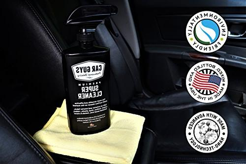 CarGuys Super Cleaner - Effective All Purpose - Best Leather Vinyl Rubber -