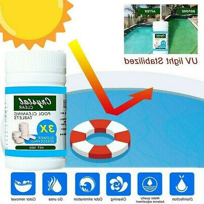 Swimming Pool Spa Floating Chlorine Pool Cleaning Tablets^Kits