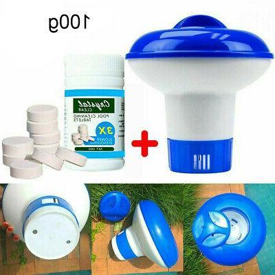 swimming pool spa floating chlorine dispenser 100pcs