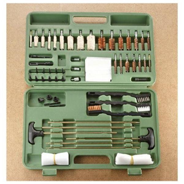 universal gun cleaning kit 62 pieces case
