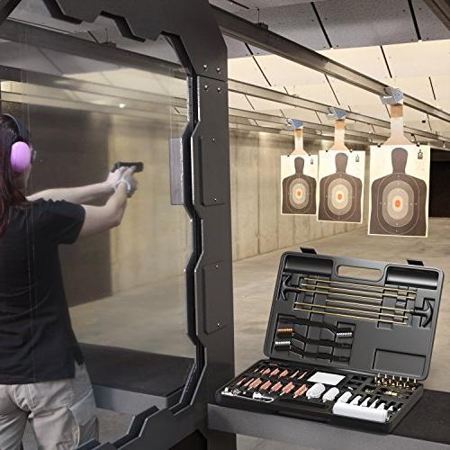 Marksman Precision Universal Cleaning Kit Brass Brushes LED Bore Light Optical Cloth | Pistol Shotgun Portable