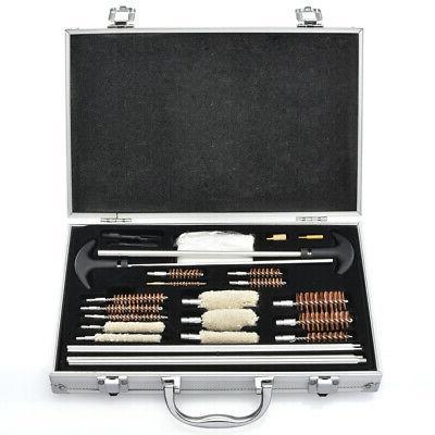 178pc Pro Universal Gun Cleaning Kit Pistol Rifle Shotgun Fi