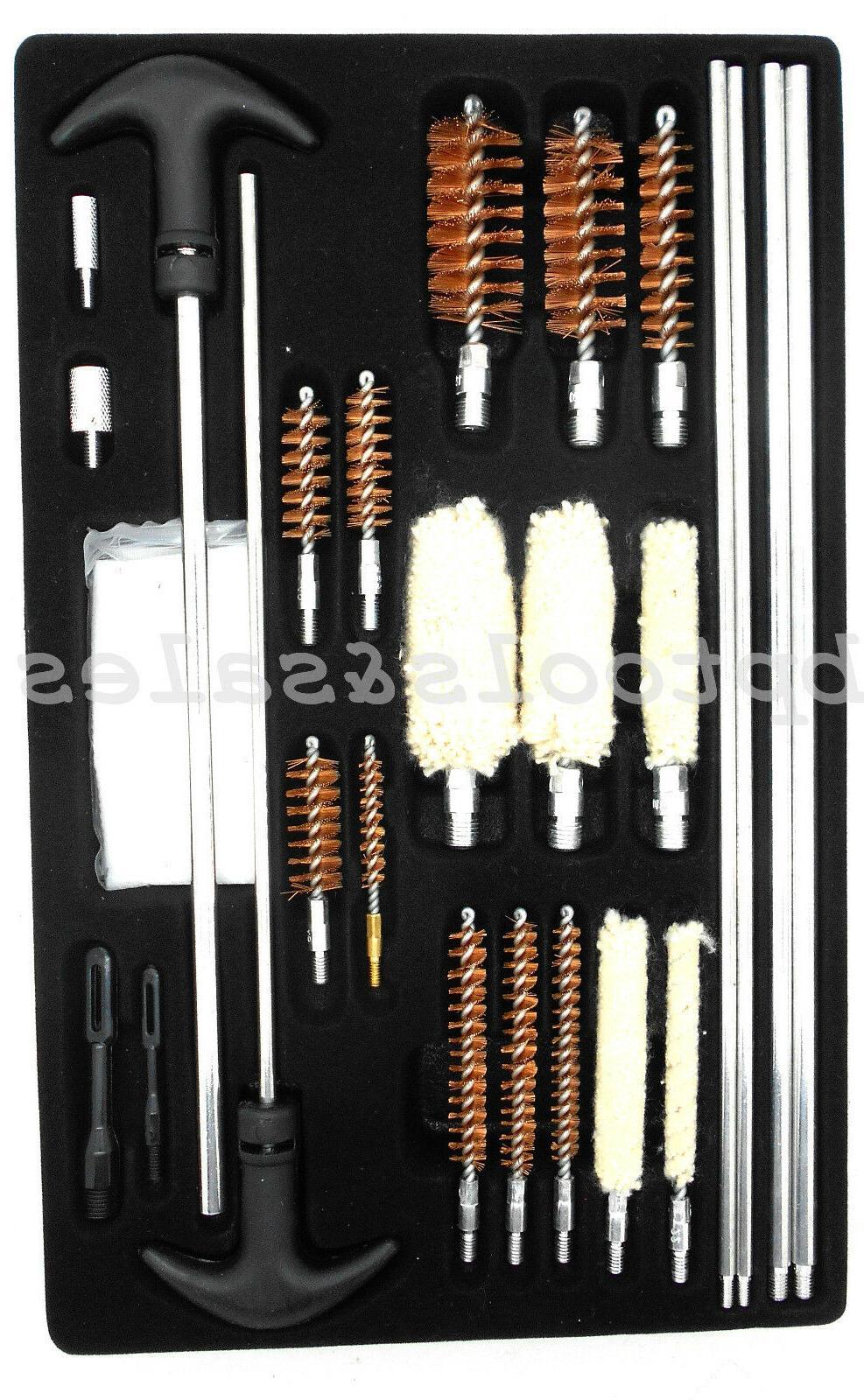 126pc Universal Gun Cleaning Kit Rifle Pistol Shotgun Handgu