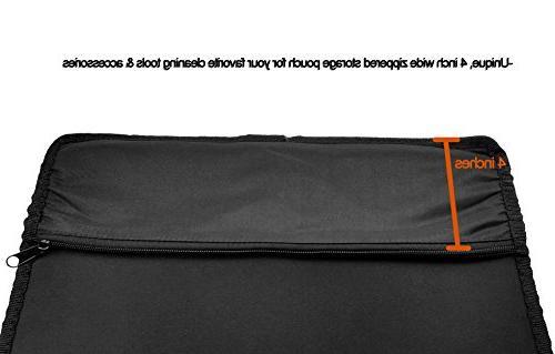 "Gun Long Rifle Kit Zipper Pouch x 14.25"" Inch Surface, Resistant For Guns, Rifles Shotguns 12 Large Pad Mats Supplies"