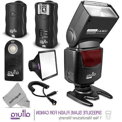 Universal Manual Slave Flash + Wireless Trigger Kit for Cano