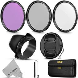 58MM Professional Lens Filter Accessory Kit for CANON EOS Re