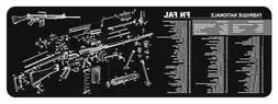 TekMat 12-Inch X 36-Inch Long Gun Cleaning Mat with FN FAL I