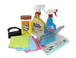 Multipurpose Cleaning Kit Dorm Room Value Pack with All Clea