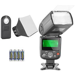 Neewer NW-670 TTL Speedlite Flash Kit for Canon with IR Wire