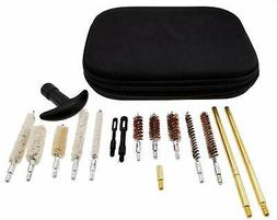 Pistol Gun Cleaning Kit and Case Compact Universal 16 Piece