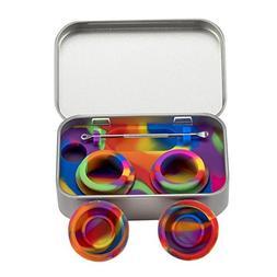 XIFEI portable stainless steel tin box 2-5ml silicone Dab co