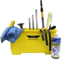 professional window cleaning kit with 4 extension