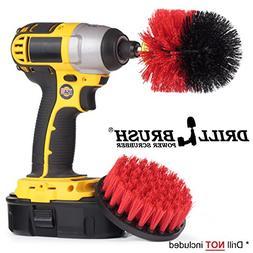 Stiff Bristle Scrub Brush Drill Attachment for Heavy Duty Ou