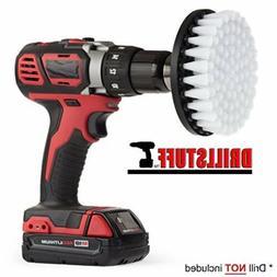 Quick Change Shaft White-Soft Drill brush- Power Scrubbing B