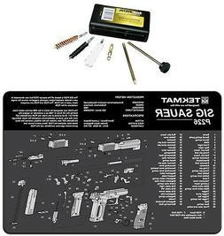 Sig Sauer P226 Tek-Mat  Bench Mat  & UTG 9MM Pistol Cleaning