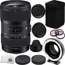 Sigma 18-35mm f/1.8 DC HSM Art Lens for Canon Bundle Include