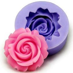 Silicone 3D Rose Flower Fondant Cake Chocolate Sugarcraft De