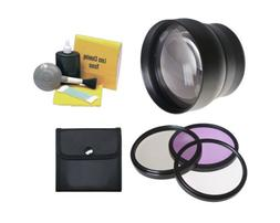 58mm 2.2x Super Telephoto Lens  + Stepping Ring 52mm-58mm +