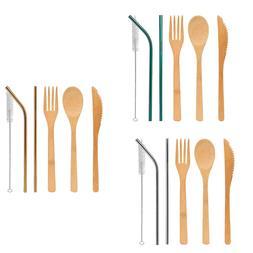 Travel Cutlery Set Utensils Flatware Reusable Stick Spoon Cu