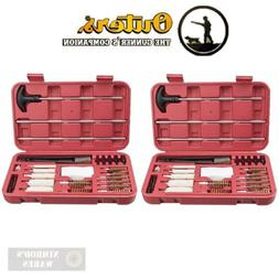 TWO OUTERS Universal Gun Cleaning KITS 28-pc each w/Hard Cas