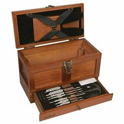 25 Piece Universal Cleaning Kit in Aged Oak Wooden Box