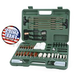 U.S. Solid Universal Gun Cleaning Kit- 62 Piece Pistol, Revo