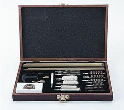 Gunmaster 35 Piece Universal Gun Cleaning Kit Wood Case