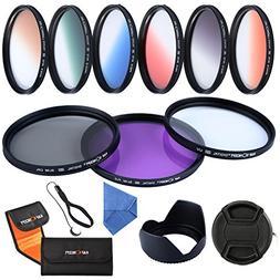K&F Concept 52mm 9pcs UV CPL FLD Graduated Filter Lens Filte