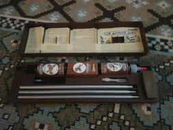 OUTERS Vintage Gun Cleaning Kit in Brown Plastic Case Shotgu