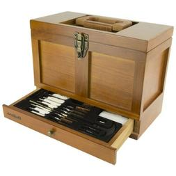Outers Wooden Chest 25 Piece Universal Gun Cleaning Kit  700