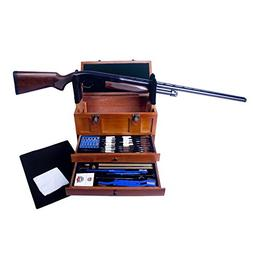Gunmaster Wooden Toolbox with Universal Select Gun Cleaning