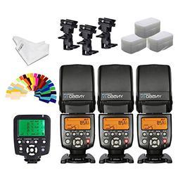 YONGNUO YN560iv Wireless Speedlite 3pcs +YN560TX Flash Contr